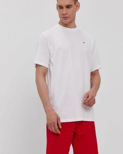 Biała piżama bawełniana z printem Tommy Hilfiger