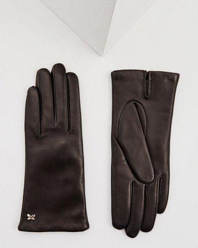 Черные кожаные перчатки Furla
