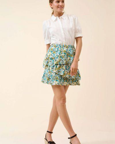 Spódnica mini z falbanami w kwiaty z wiskozy Orsay