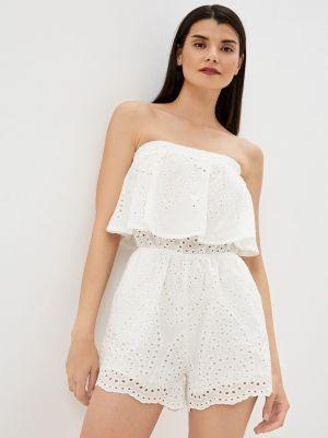 Белый комбинезон с шортами Fadjo