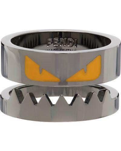 Żółty pierścionek Fendi