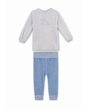 Пижама синяя серая Sanetta