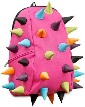 Różowy plecak skórzany klamry Madpax