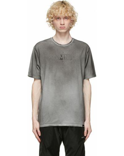 Czarny t-shirt krótki rękaw bawełniany Nemen