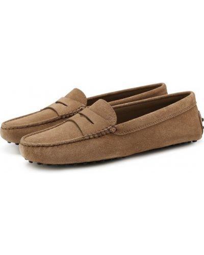 Мокасины замшевые кожаные Tods