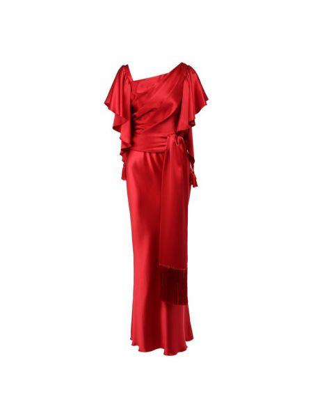 Вечернее платье с бахромой с поясом Dolce & Gabbana