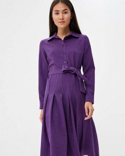 Платье осеннее фиолетовый Maison De La Robe