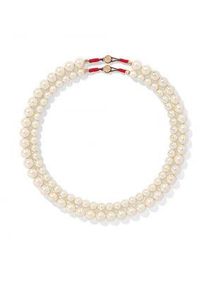 Biały złoty naszyjnik perły Roxanne Assoulin