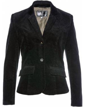Пиджак черный вельветовый Bonprix