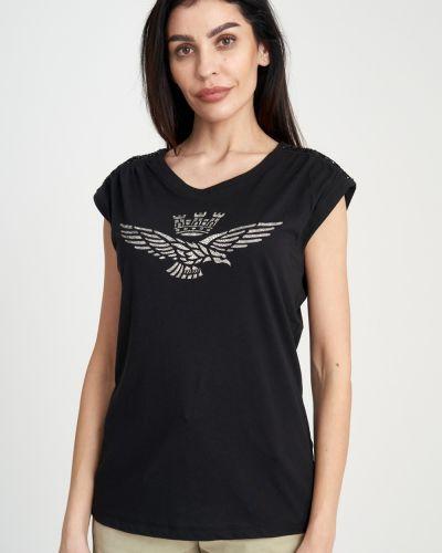 Облегающая хлопковая футболка Aeronautica Militare