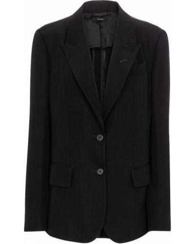 Однобортный черный пиджак Tom Ford