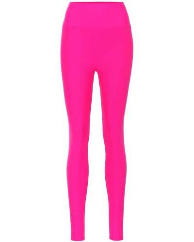 Леггинсы розовый с высокой талией Lanston Sport