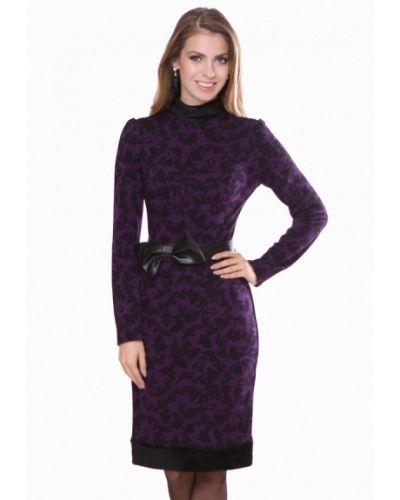 Платье миди осеннее фиолетовый Olivegrey