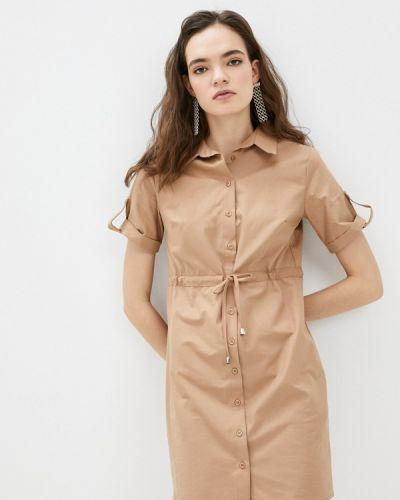 Коричневое платье-рубашка Trendyol