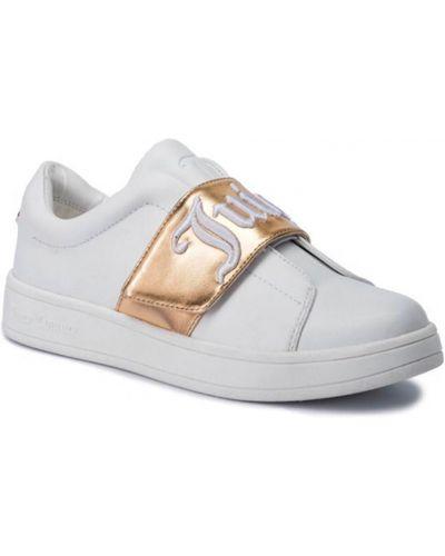 Кожаные кеды - белые Juicy Couture