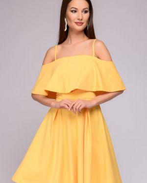 Летнее платье миди на бретелях 1001 Dress