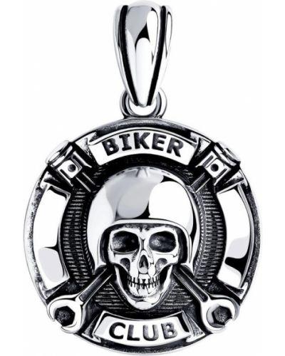 Серебряный медальон с подвесками с декоративной отделкой Sokolov