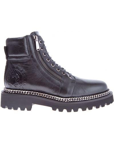 Ботинки на платформе кожаные на каблуке Balmain