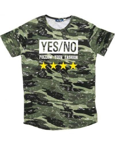 Зеленая футболка Jn