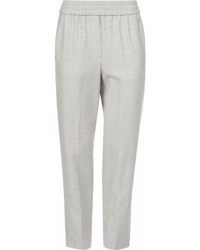 Шерстяные брюки - серые Cappellini