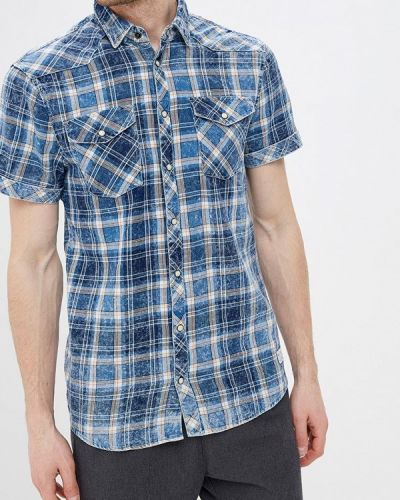 Рубашка с короткими рукавами синий Blend