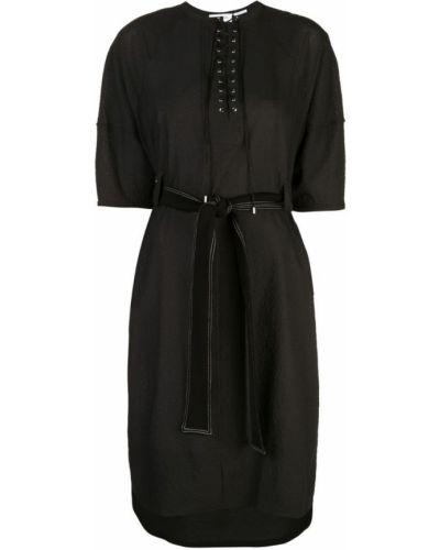 Платье миди с короткими рукавами - черное Yigal AzrouËl