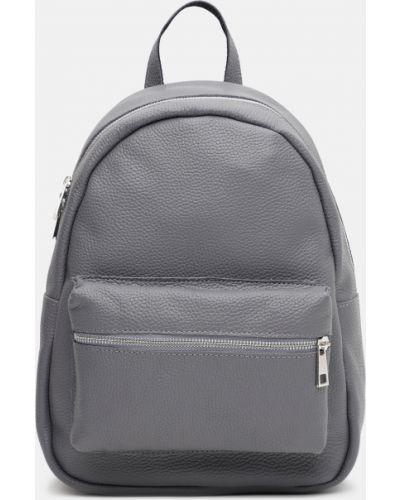 Кожаный рюкзак - серый Palmera
