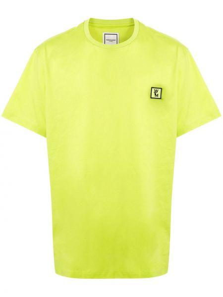 Koszula krótkie z krótkim rękawem z logo prosto Wooyoungmi
