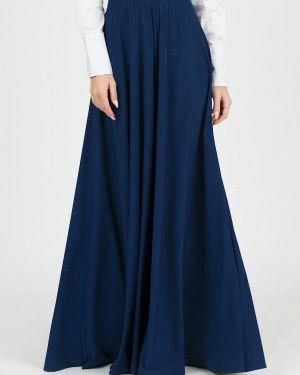 Юбка широкая синяя Marichuell