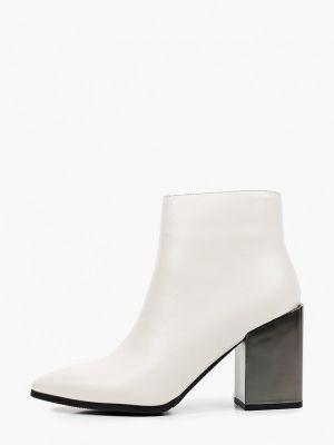 Кожаные ботильоны - белые Just Couture