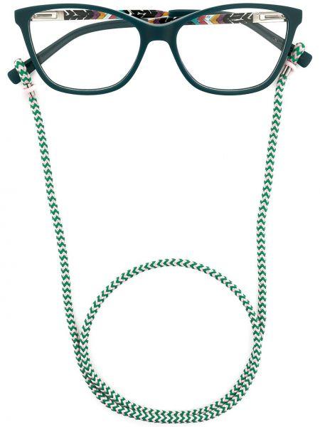 Niebieska oprawka do okularów srebrna M Missoni