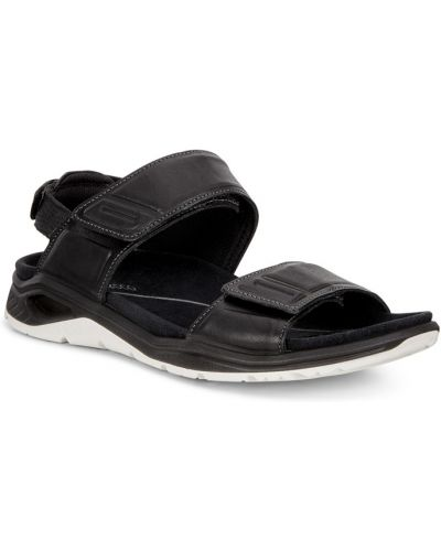Спортивные сандалии черные на каблуке Ecco