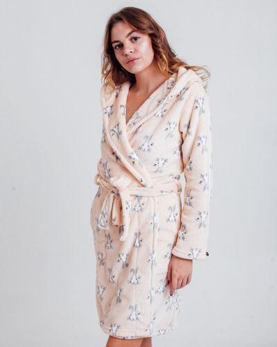 Домашний халат - бежевый Rebelle