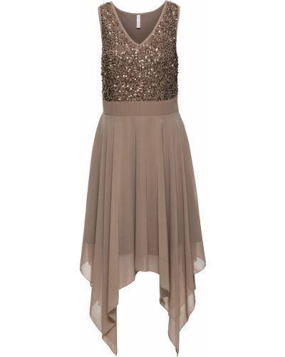 Вечернее платье с пайетками без рукавов Bonprix
