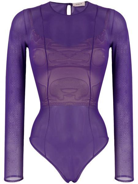 Фиолетовое боди с вырезом круглое Murmur