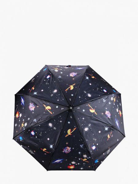 Зонт складной черный Flioraj