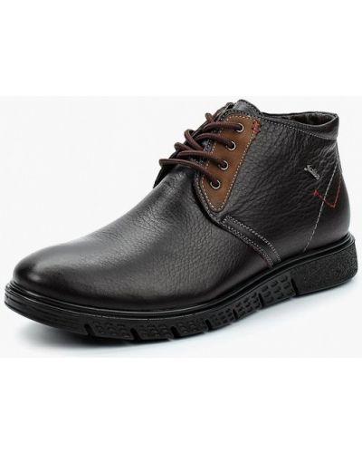 Ботинки осенние кожаные коричневый Id! Collection
