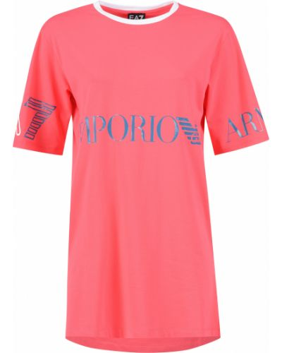Хлопковое платье - розовое Ea7 Emporio Armani