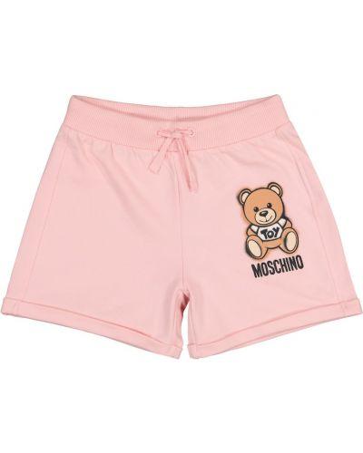 Bawełna bawełna różowy szorty rozciągać Moschino Kids
