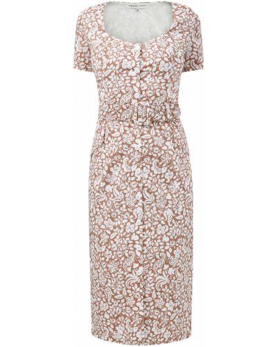 Платье-футляр с декольте на пуговицах из поплина эластичное Alexander Terekhov