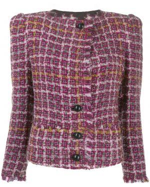 Розовый пиджак твидовый Isabel Marant