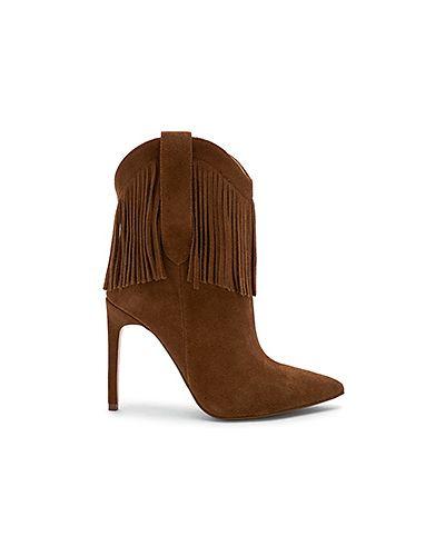 Ботинки на каблуке замшевые Raye