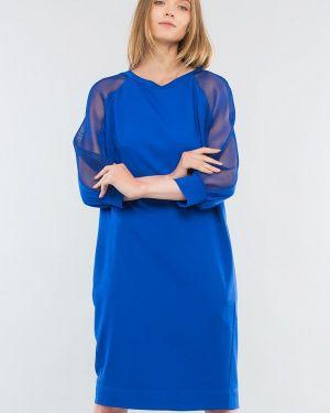 Синее повседневное платье Maxa
