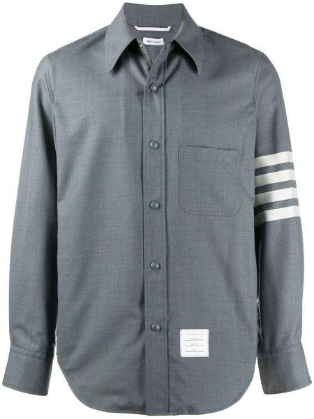 Koszula z długim rękawem klasyczna wełniany Thom Browne