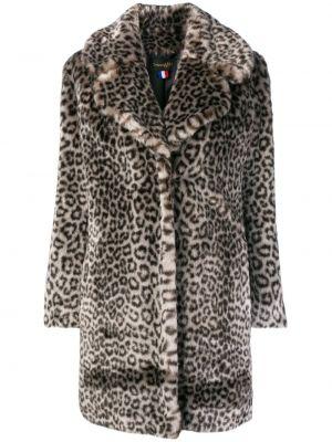 С рукавами серое акриловое прямое пальто La Seine & Moi