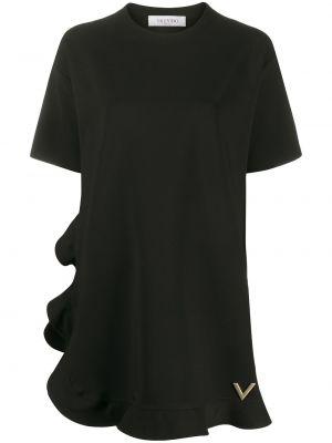 Платье мини с баской футболка Valentino