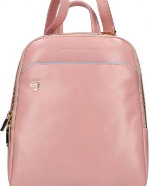 Кожаный рюкзак на молнии розовый Piquadro