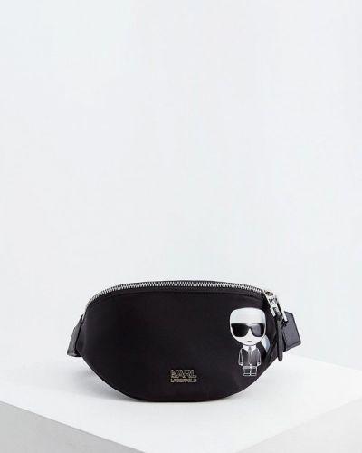 Поясная сумка черная Karl Lagerfeld