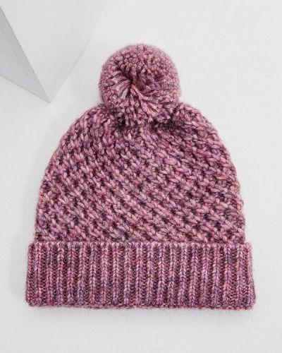 Фиолетовая шапка осенняя Coccinelle