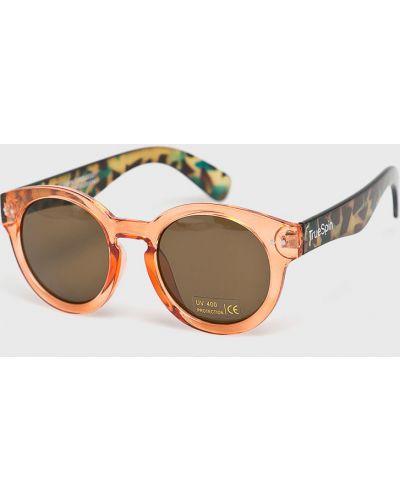 Солнцезащитные очки круглые стеклянные True Spin